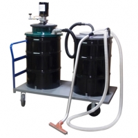 1J55- 55 Gallon Air Operated Vacuum - Single Venturi